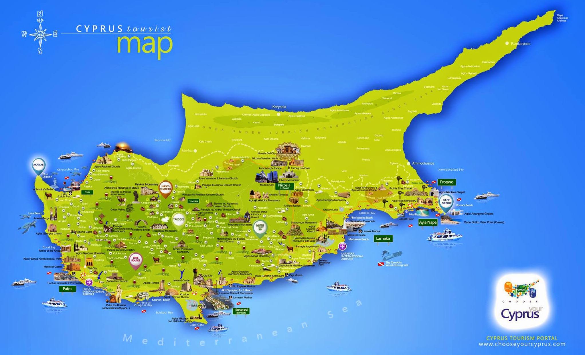 mapa evrope kipar Vodič za Kipar   [čudesno