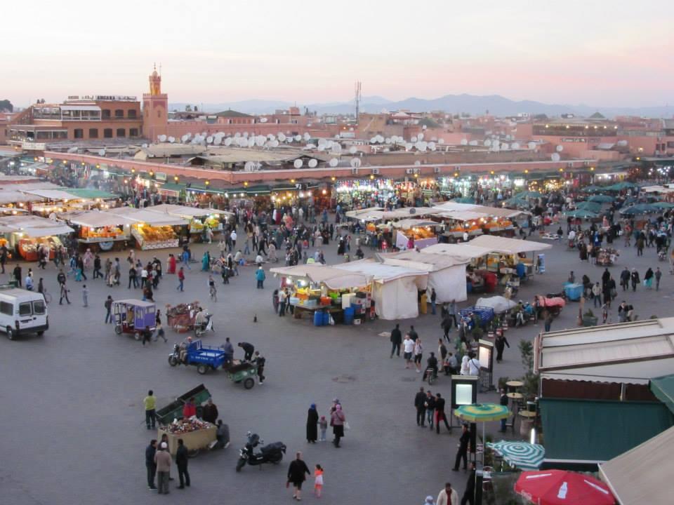 Djema el fna, trg u Marakešu