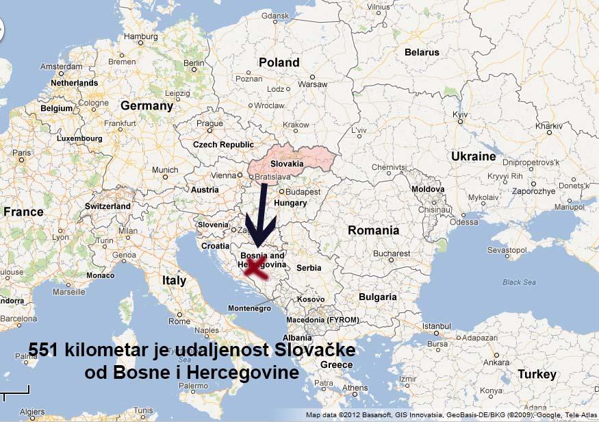 slovačka mapa