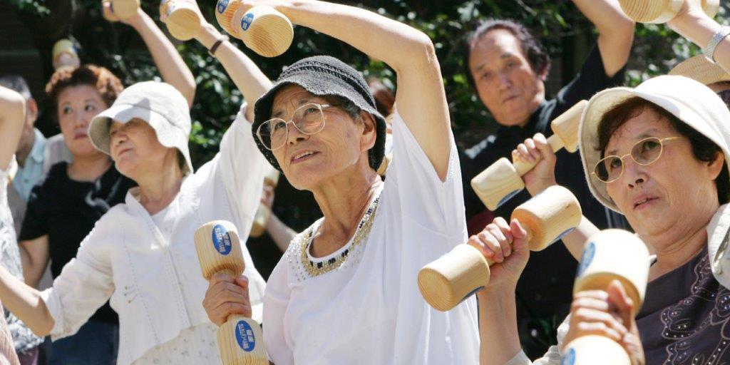 stari ljudi u Japanu