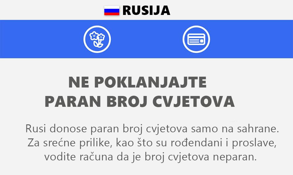 šta ne smijete raditi u Rusiji
