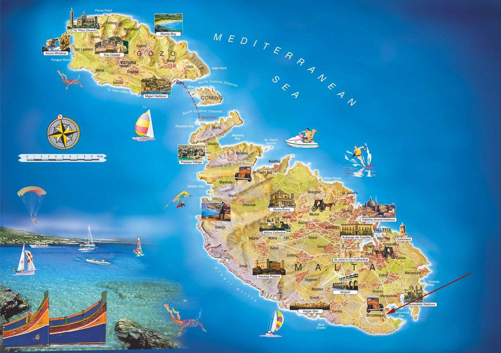 Malta mapa
