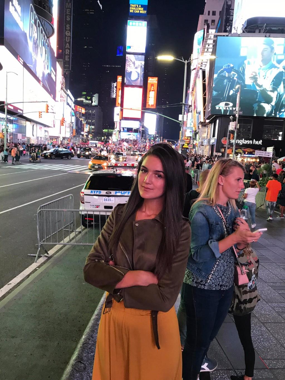 Times square Njujork noć