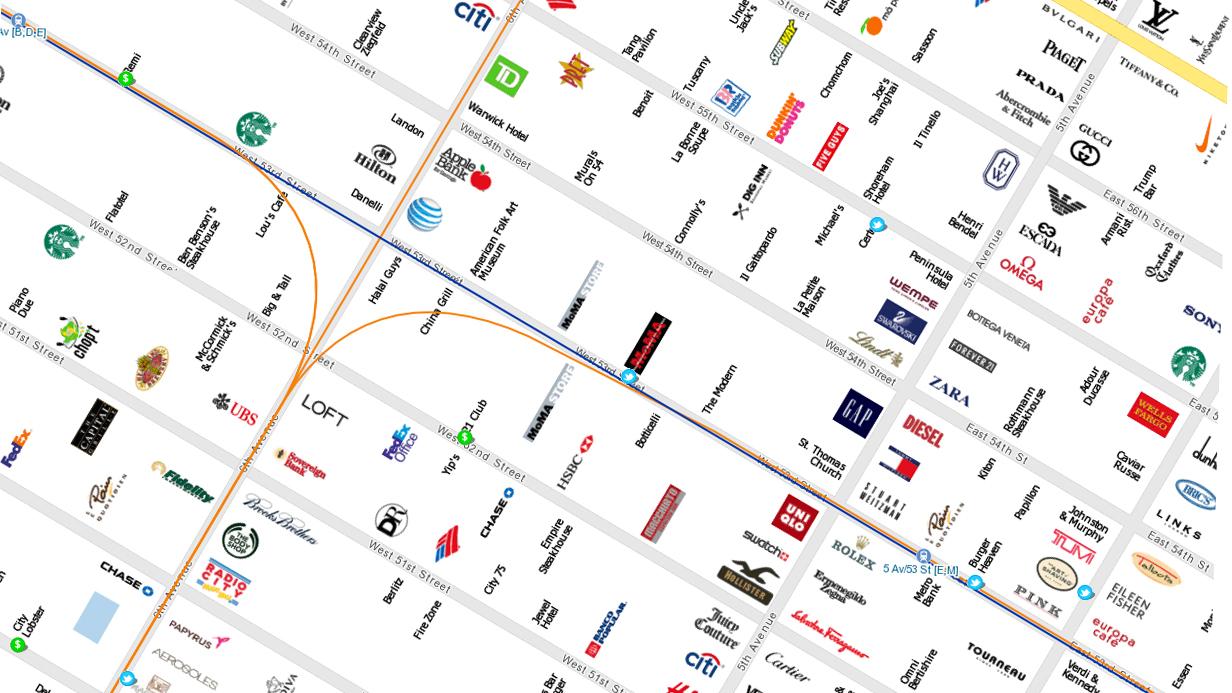 5.avenija mapa