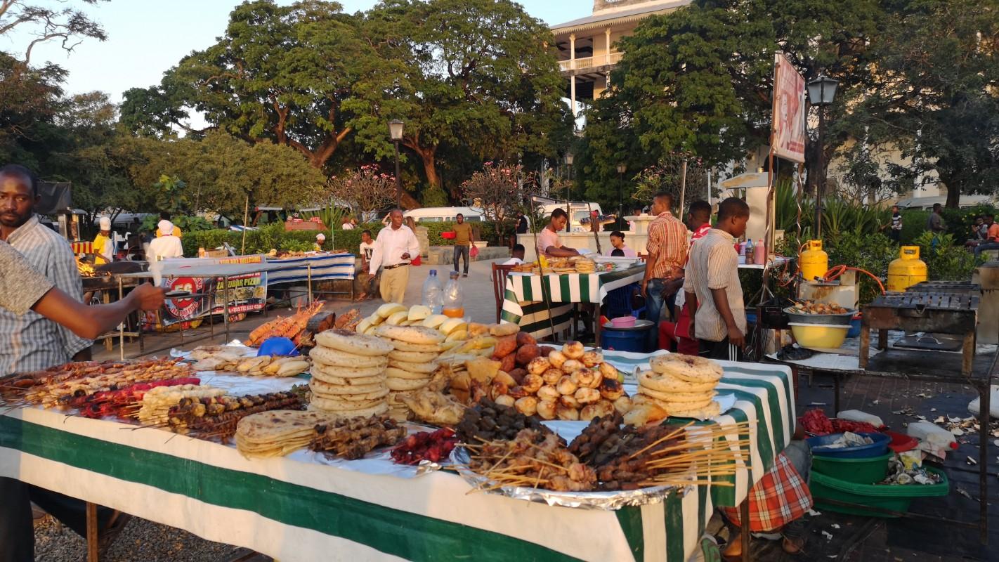 market u Zanzibaru