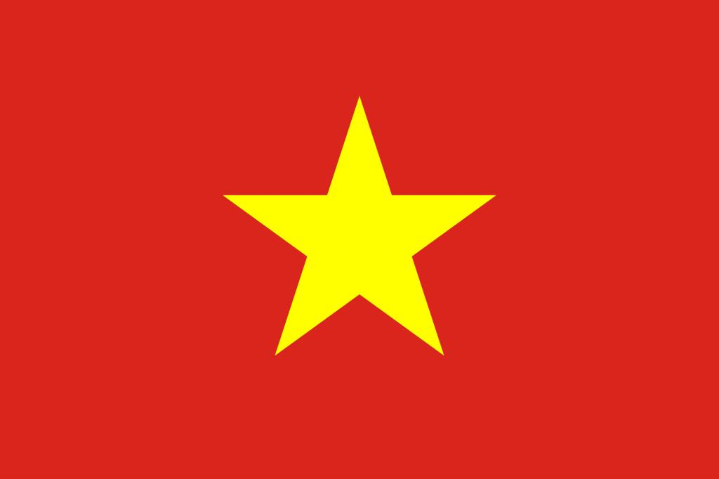zastava Vijetnama sa pet krakova