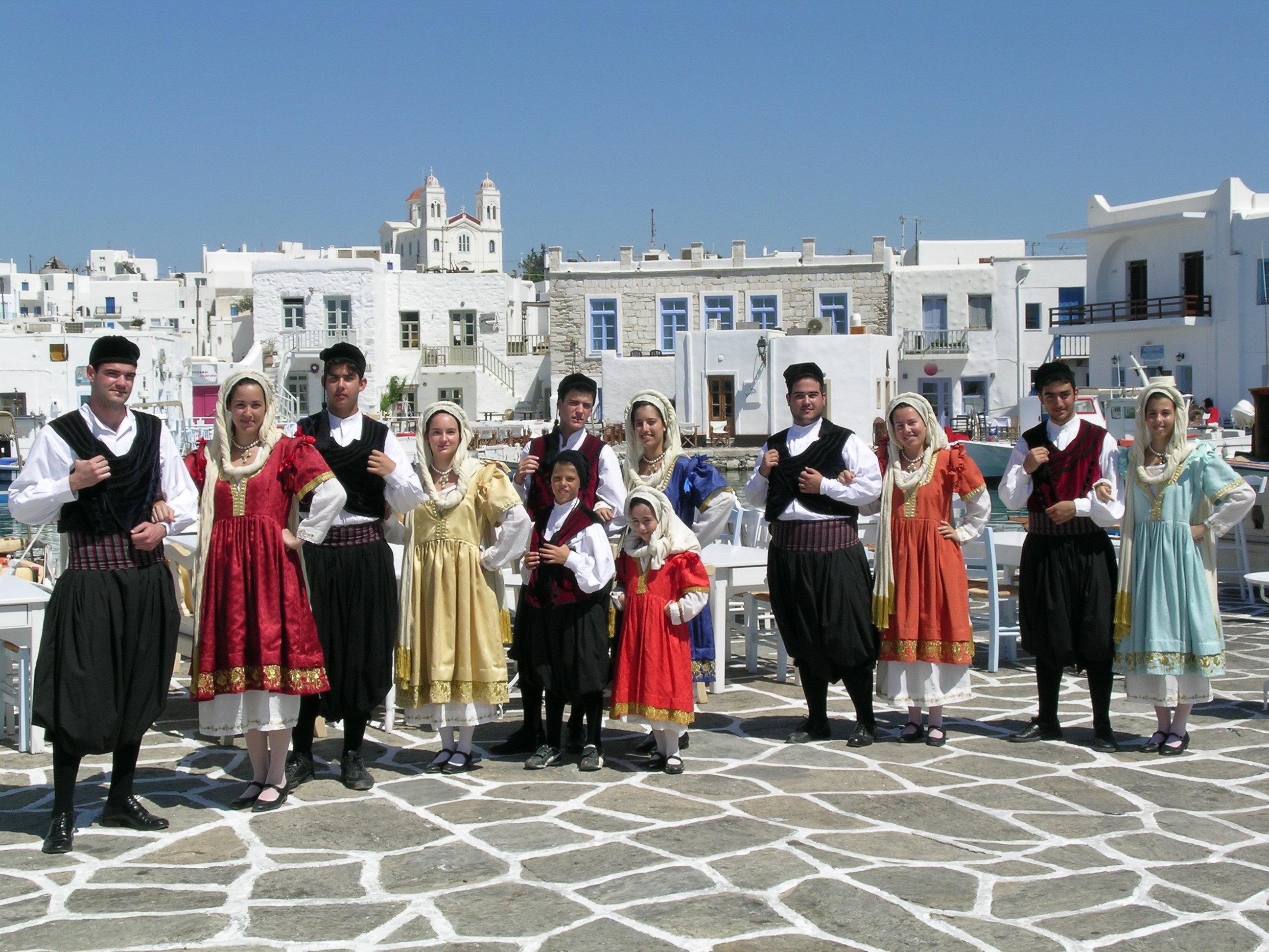 Greek dancing on Paros