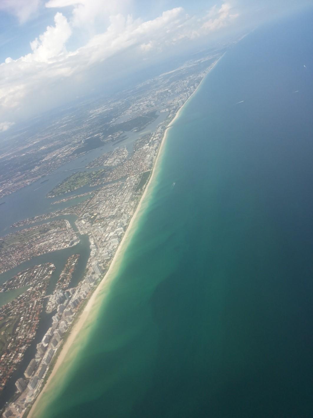 pogled na Majami iz aviona