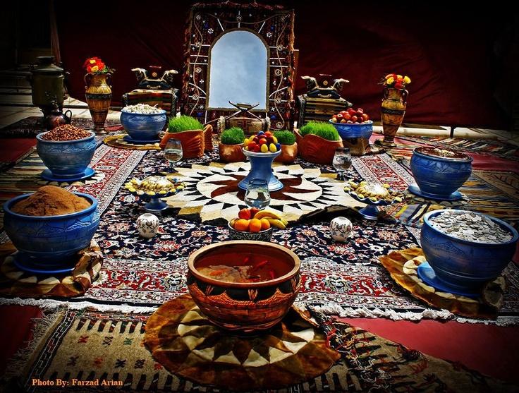 Iranska sofra, prostirka koja se korisiti u tradicionalnim Iranskim restoranima