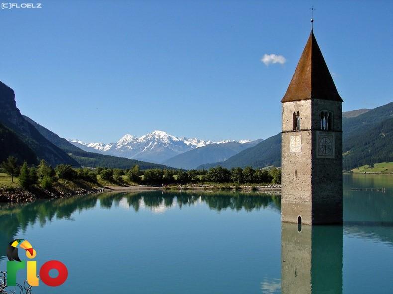 jezero Reschensee u Italiji