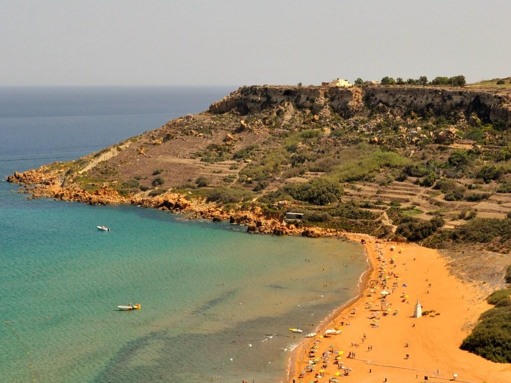 Ramla bay malta beach