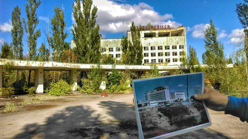 old building in Pripyat