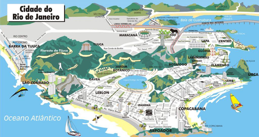 mapa Rio de Žaneiro