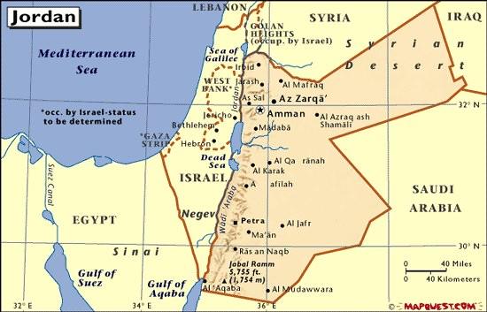 mapa Jordana