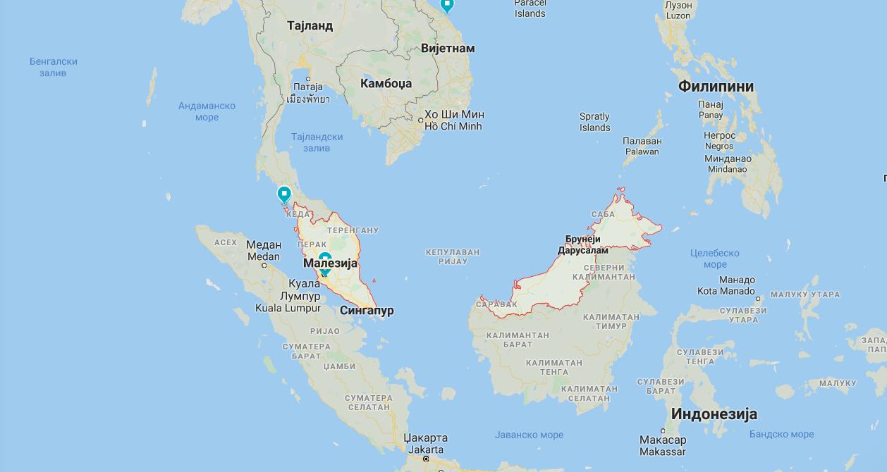 malezija mapa