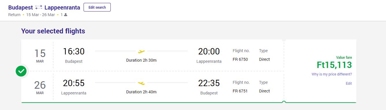 avio karta za Finsku