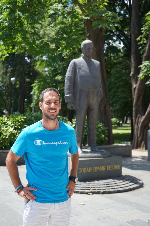 Jovan Dučić statua Trebinje