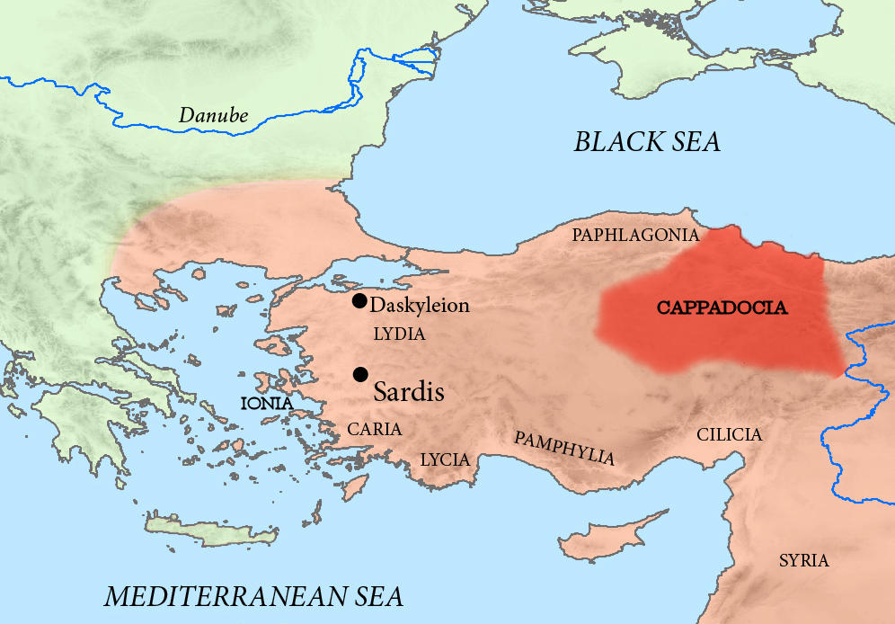 Kapadokija mapa