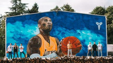 Mural Kobi Brajanta u Gradišci
