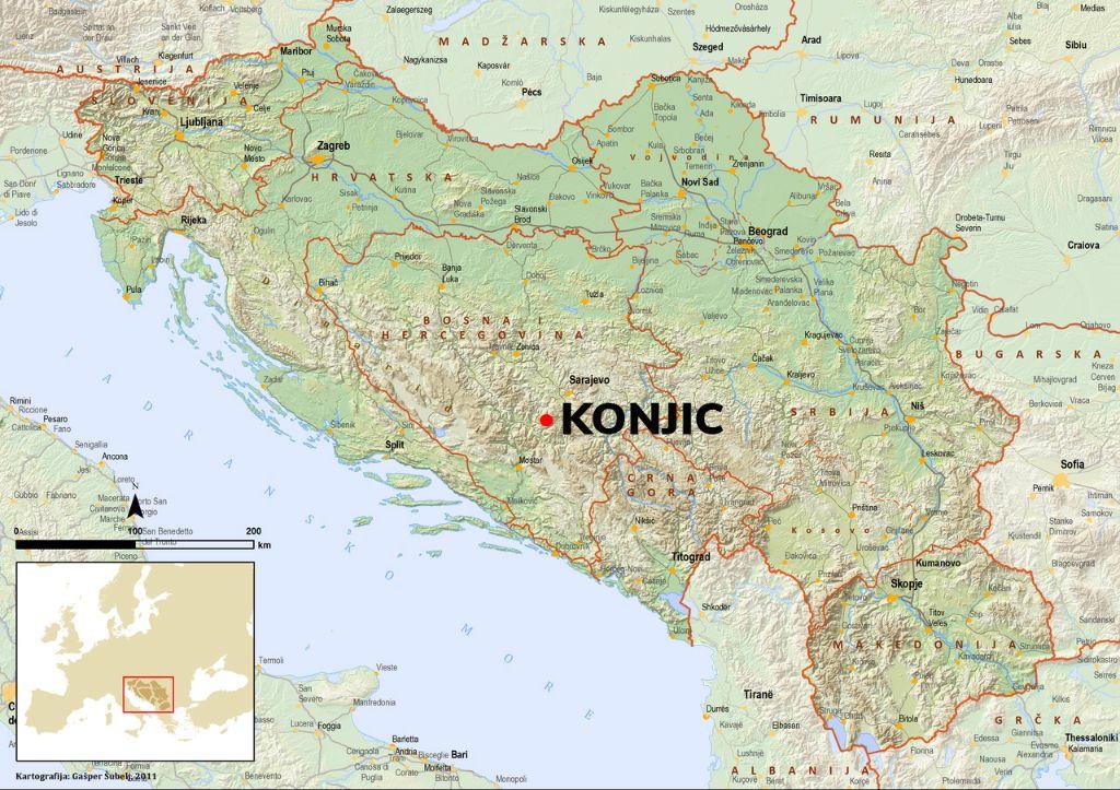 Jugoslavija mapa