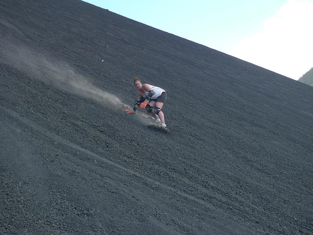 Cero Negro spuštanje niz vulkan