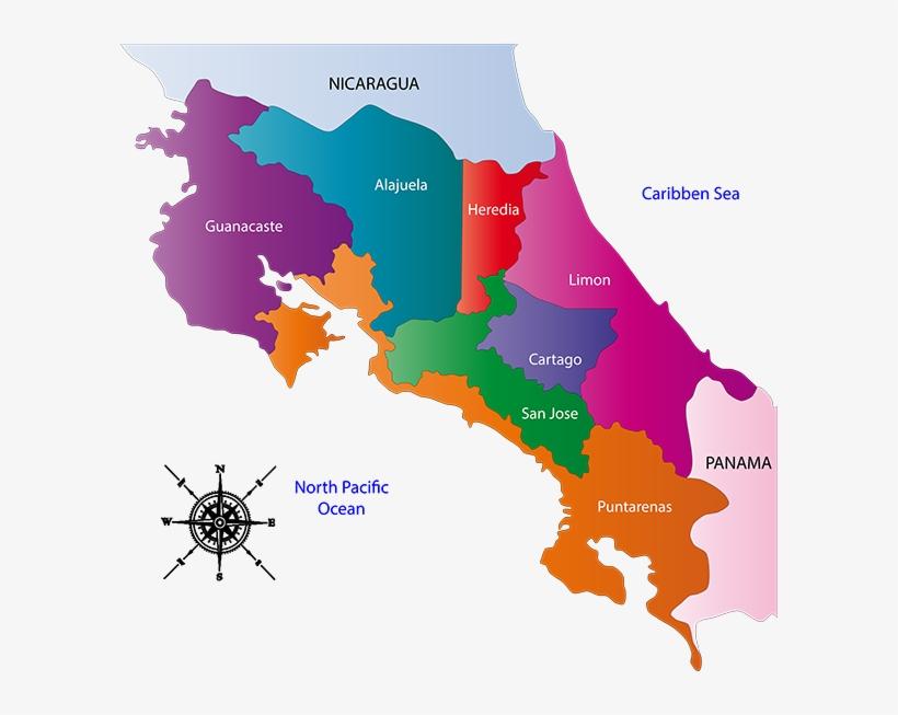 Kostarika mapa