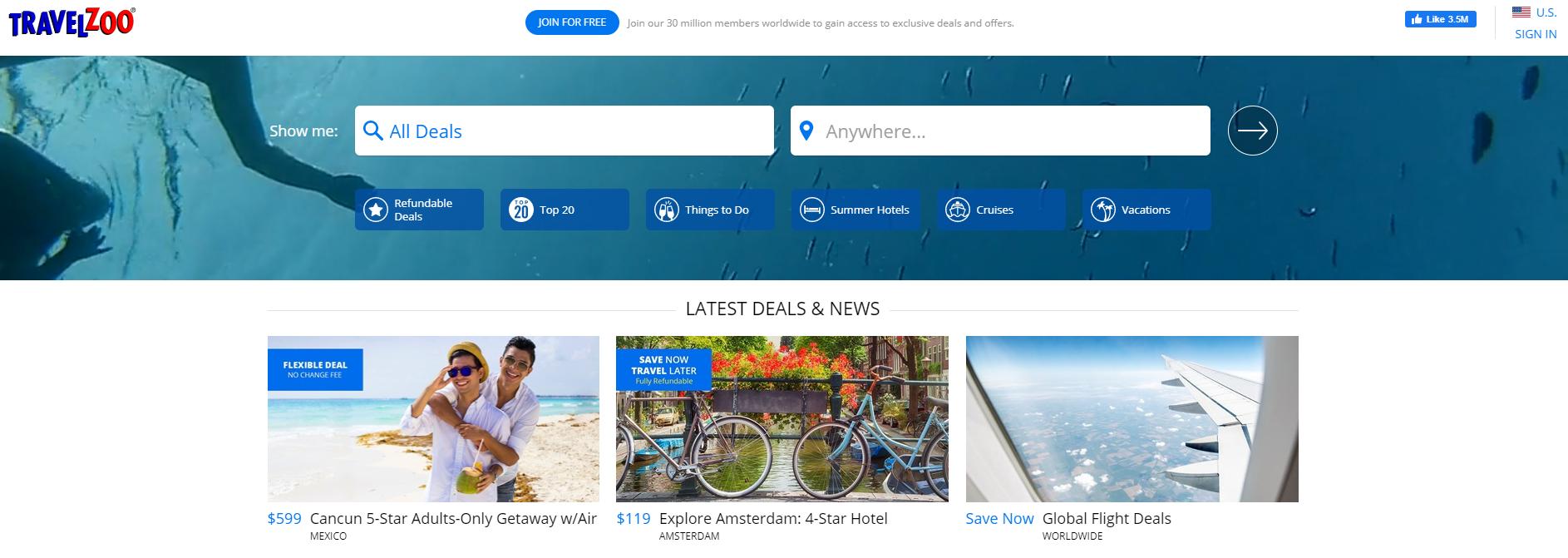 Travelzoo sajt